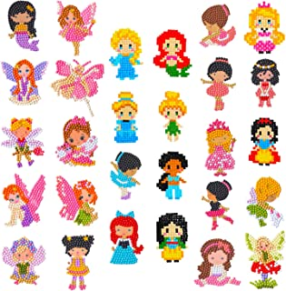 HaiMay 28 Pieces Diamond Painting Kits Kids 5D Diamond Stickers DIY Princess Fairies Dance Mermaid with Diamonds for Kids and Adult Beginners