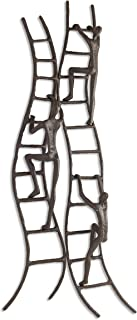 Danya B. ZI15218 Home and Office Hanging Metal Wall Art - Cast Iron Climbing to Success Stairway