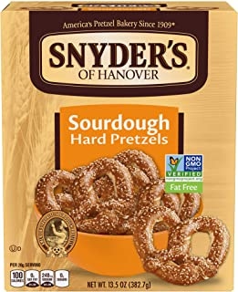 Snyder's of Hanover Pretzels, Sourdough Hard Pretzels, 13.5 Ounce Box (Pack of 12)