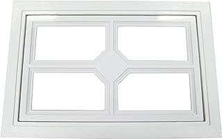 Garage Door Windows Square Design w/Cross