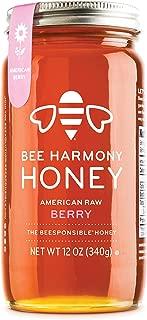 Bee Harmony American Raw Berry Honey, 12 Ounce