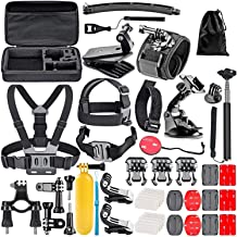 Compatible with The Apeman A66 Action Camera Navitech 60-in-1 Action Camera Accessories Combo Kit with EVA Case