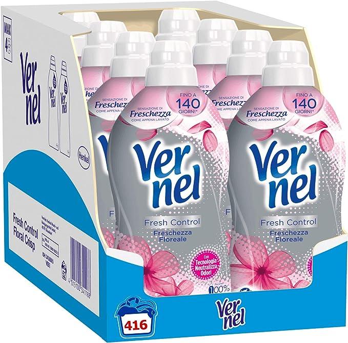 890 opinioni per Vernel Fresh Control Ammorbidente Lavatrice profumato Neutralizza Odori,