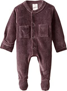 L'ovedbaby Unisex-Baby Newborn Organic Cotton Velour Footed Overall