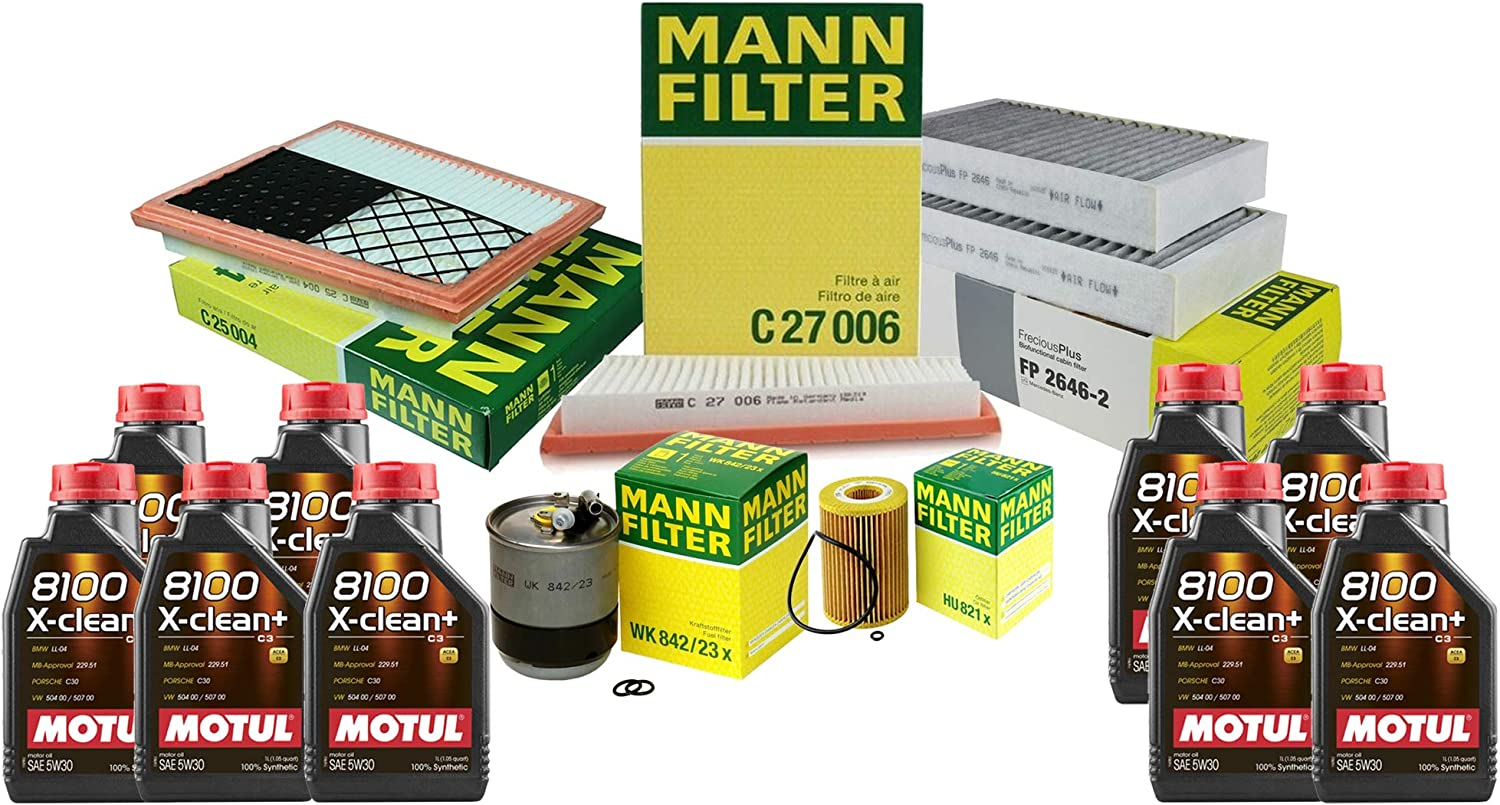 9L 8100 X-CLEAN+ 5W30 Oil Filter For ML320 W164 Selling and selling Houston Mall Service 2009 Kit