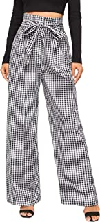 Best gingham tie waist trousers Reviews