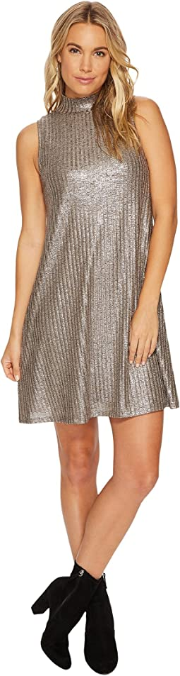 kensie - Foiled Rib Shift Dress KSNK9889