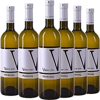 VIPAVA 1894 Vino blanco CHARDONNAY 2018, (6 x 0,75 l), vino