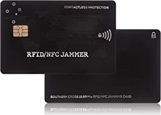 RFID Blocking card   1st EVER DUAL CHIP DESIGN!   A credit card protector made to stop sneaky thief's who can pick your pocket without touching you   13.56mhz-125khz   Southern Cross - RFID/NFC JAMMER