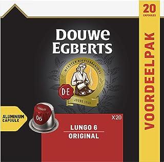 Douwe Egberts Koffiecups Lungo Original (200 Capsules, Geschikt voor Nespresso* Koffiemachines, Intensiteit 06/12, Medium ...