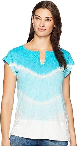 Playa Vintage Split-Neck T-Shirt