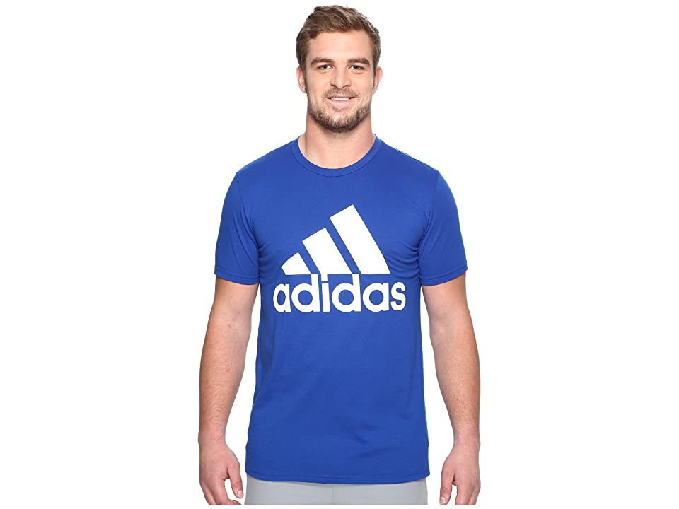 adidas Big Tall Badge of Sport Classic Tee (Collegiate Royal/White) Men's T Shirt, Blue