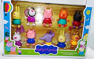 Happy Family Peppa Pig (Set of 10 Pieces)