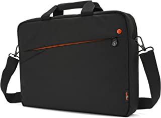 subtel® Mochila Compatible con Lenovo IdeaPad/Legion/ThinkPad/Yoga con Correa de Hombro, Tela Terciopelo Negro, Unisex – Mochila, Bolso