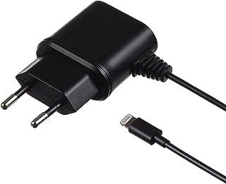 Kit 1 A Micro USB 电源充电器充电线带有双针欧盟电源插头和微型 USB 接口兼容大多数智能手机和 MP3 设备,包括三星 Galaxy S2/S3/S4/S5/S6/Edge、Galaxy Note 2/3、Sony Xperia Z1/Z2、HTC One/One M8 和 Google Nexus 4/5 以及 Nokia、Huawei、LG uvmIP5MCEU2A  2.1 Ampere Lightning 黑色