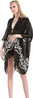 Best black embroidered kimono Reviews
