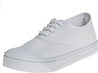 Liberty Unisex School White Shoes