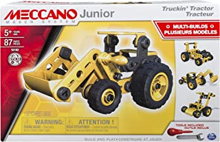 Meccano Junior, Truckin' Tractor, 4 Model Building Set, 87 Pieces, For Ages 5+, STEM Construction Education Toy