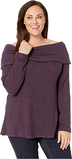 Plus Size Capri Cozy Off the Shoulder Top