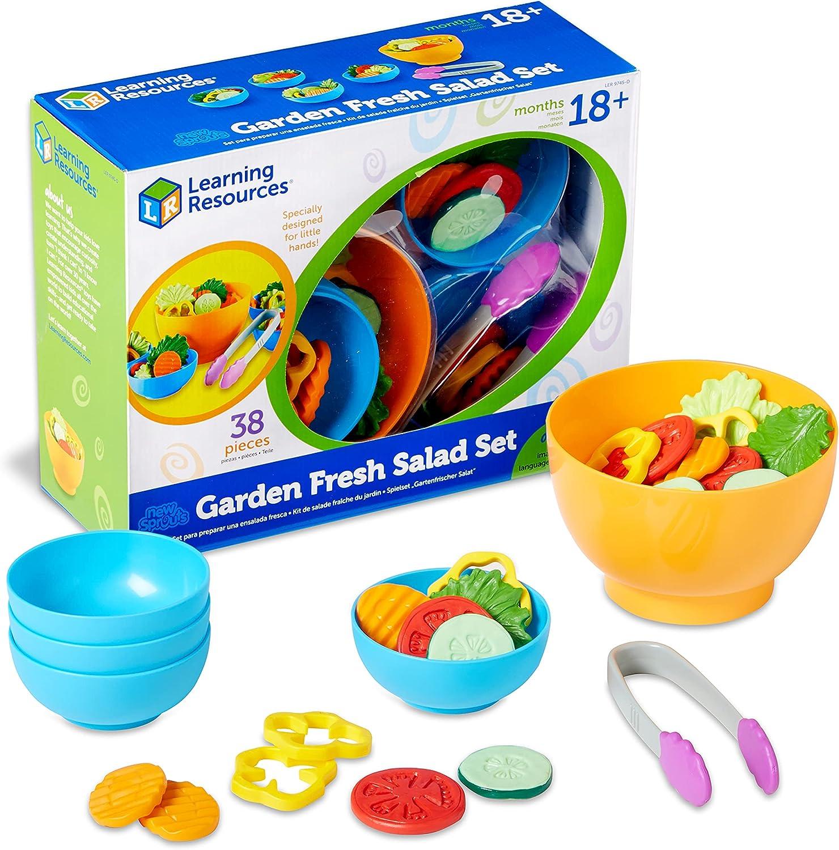 Learning Resources- Kit de Ensalada Fresca de la Huerta New Sprouts, Color (LER9745-D)