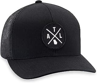 ATL Hat – Atlanta Trucker Hat Baseball Cap Snapback Golf Hat (Black)