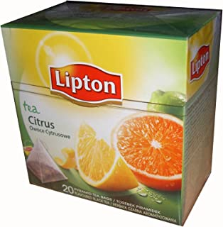LIPTON Black Tea Citrus Fruits Pyramid Tea Bags (20 ct.) 1 Box