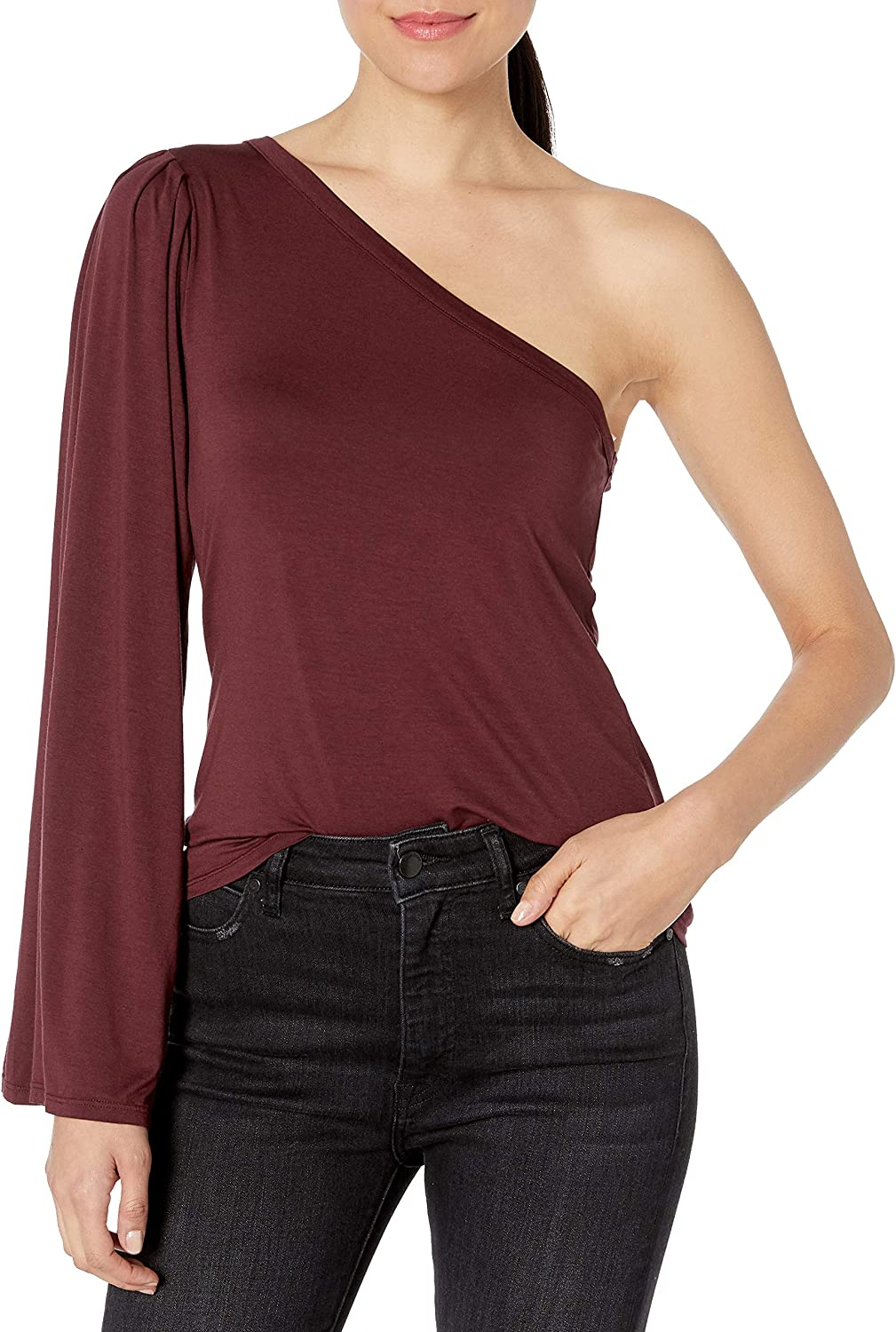 Three Dots Very popular Women's Refined Jersey Shoulder Mid Max 62% OFF Shirt Loose One