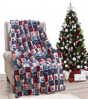 Décor&More American Pride Collection Microplush Throw Blanket (50