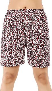 MUKHAKSH (Pack of 1 Women's/Girls/Ladies Hot Soft Cotton Printed Shorts/Lounge Shorts/Night Shorts/Nikar, Prints May Vary