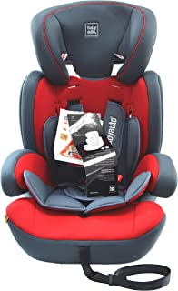 Babyauto Konar Baby Car Seat, From Age 1 to 12 years,Group 1/2/3-Red