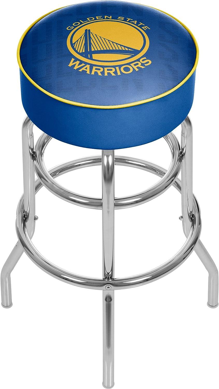 Trademark Global NBA Padded Swivel Bar Stool - City - golden State Warriors NBA1000-GSW3