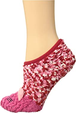 Critter Ultra Soft Cozy No Show Slipper Sock with Grippers