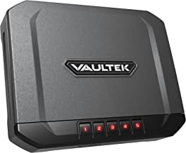 Vaultek VR10 Lightweight Bluetooth Smart Handgun Safe Smart Pistol Safe with Auto Open Lid and Rechargeable Lithium-ion Battery