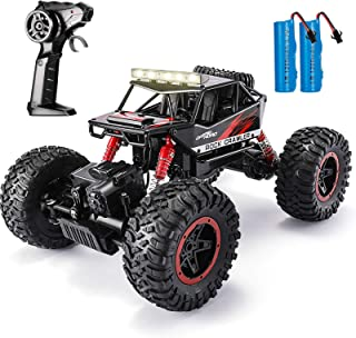 TEMI RC Climbing Car, 1:14Remote Control Stunt Car, RC Off Road MonsterTruck,4WD 2.4GHz All-Side Running, with 2 Batterie...