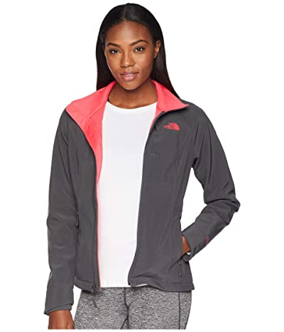 The North Face Apex Bionic 2 Jacket (Asphalt Grey/Atomic Pink) Women
