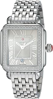 Michele Women's Deco Madison Stainless Steel Cashmere Diamond Watch Silver One Size