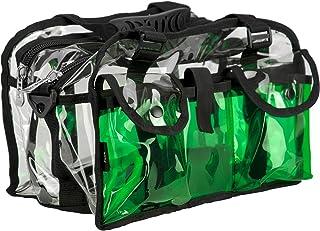 Casemetic 透明套装袋双拉链储物隔层,带 3 个外部口袋和肩带