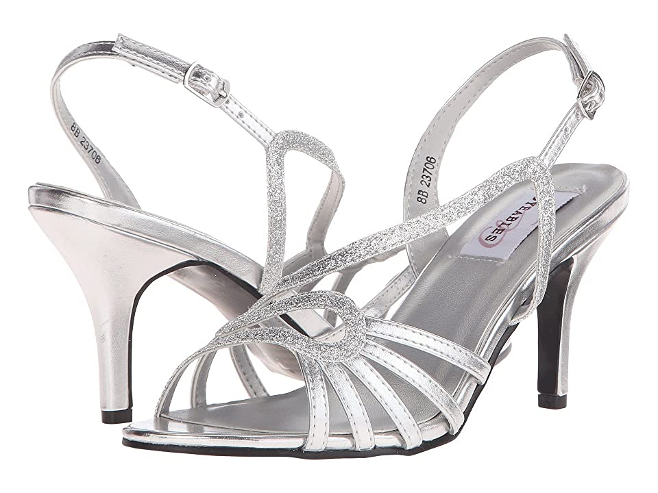 Touch Ups Caitlyn (Silver Glitter) Women's Shoes