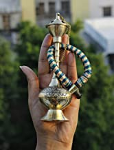 "Indian Art Villa Brass Chrome Finish Designer Hookah Sheesha, Barware & Decortive Item, 6.3"" Inch, Silver"