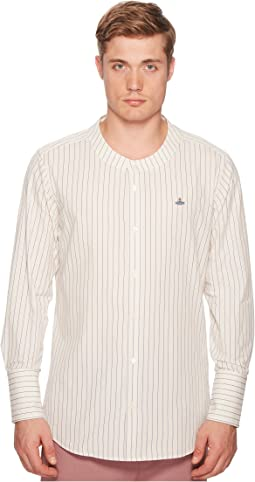 Butcher Stripe Low Neck Shirt