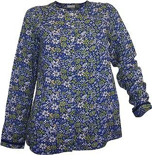 Cheer  modische Longbluse  Tunika  Bluse  natur  beige  floral bedruckt  neu