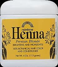 Rainbow Light Henna,Persian Blonde Henna-Persian Blonde - 4 Oz, 4 pack
