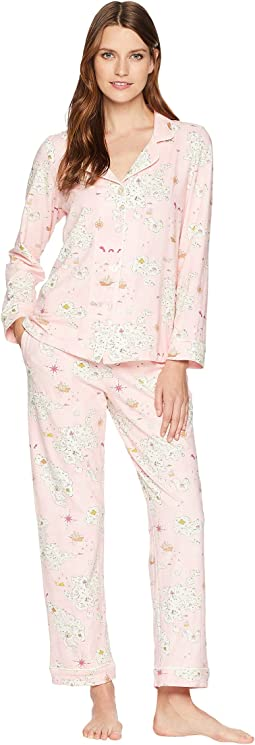 Classic Notch Collar Knit Pajama Set
