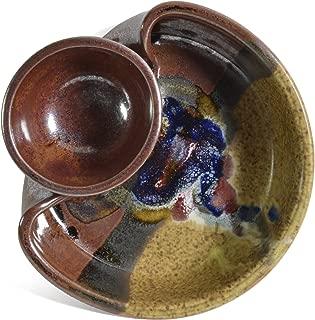 Larrabee Ceramics Shrimp and Dip Bowl, Brown/Multi
