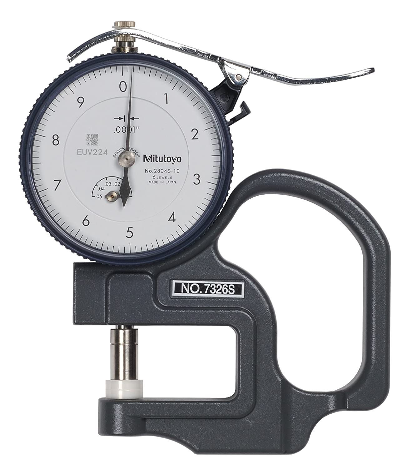 Mitutoyo 7326SCAL Dial Thickness Latest item online shopping Gauge with Inch F Calibration
