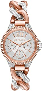 Camille Stainless Steel Multifunction Watch with Glitz Accents