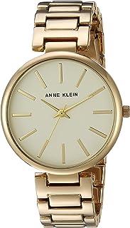 Anne Klein Women's AK/2786CHGB Gold-Tone Bracelet Watch
