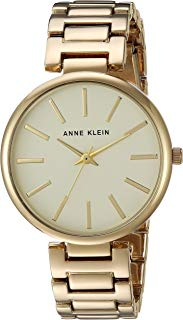 Anne Klein Women's AK/2786CHGB Gold-Tone Bracelet Watch