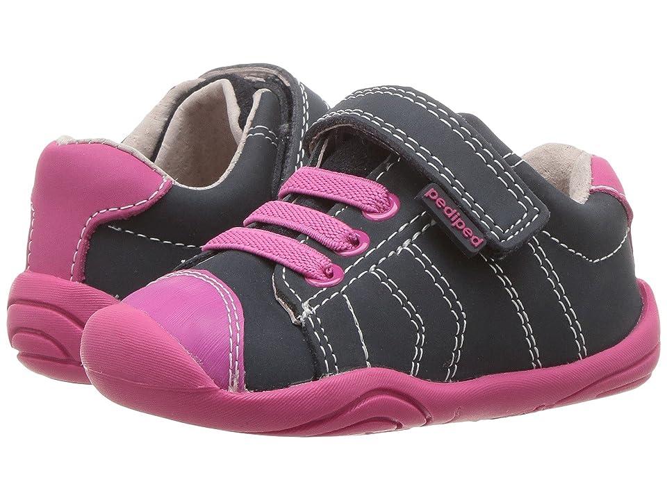 pediped Jake Grip n Go (Toddler) (Navy/Pink) Girls Shoes