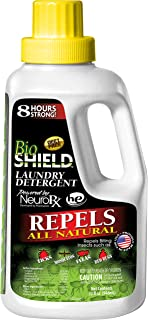 BIO SHIELD By Portland Outdoors Laundry Detergent All Natural DEET-FREE 8-Hour Tick, Flea, Bed Bugs and Mosquito Repellent, 32oz
